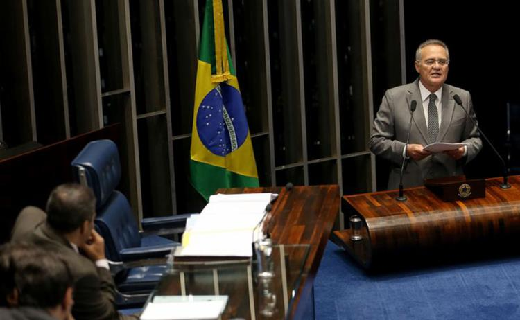No plenário, senador chamou presidente de 'covarde' e disse que não tem vocação para 'marionete' - Foto: Wilson Dias l Agência Brasil