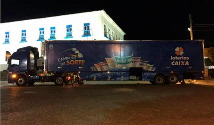 Caminhão da Sorte está na cidade de Cachoeira - Foto: Reprodução | Forte no Recôncavo