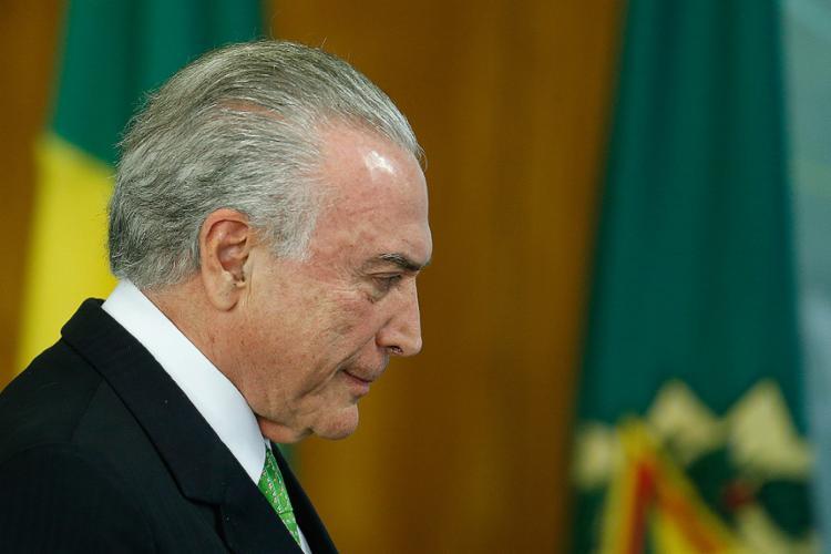 Temer é acusado de obstrução da Justiça e organização criminosa - Foto: Dida Sampaio l Estadão Contéudo