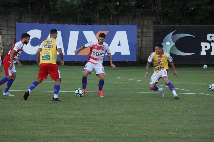 O elenco Tricolor segue preparação para o clássico de domingo - Foto: Felipe Oliveira l EC Bahia