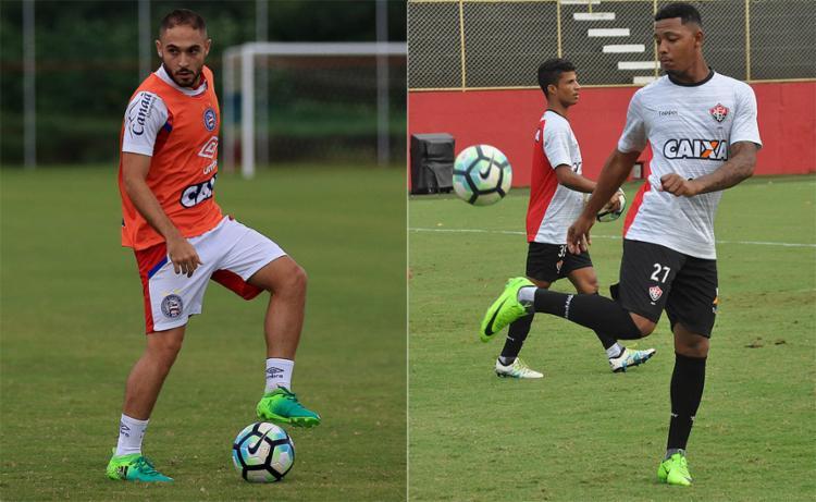 Indefinições estão nas escalações das equipes antes do 6º embate entre elas em 2017 - Foto: Felipe Oliveira l EC Bahia e Mauricia da Matta l EC Vitória