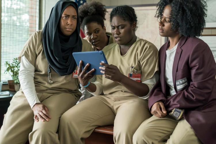 Alison Abdullah, Adrienne C Moore, Danielle Brooks e Vicky Jeudy - Foto: Myles Aronowitz / Netflix / Divulgação