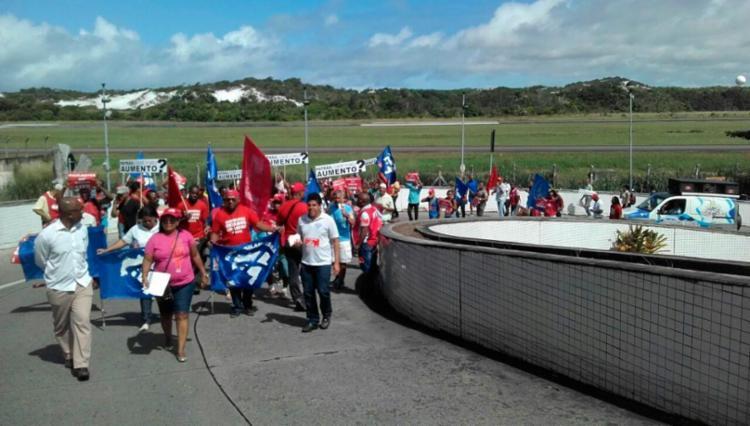 Vigilantes estão em greve desde 24 de maio - Foto: Divulgação   CUT-BA
