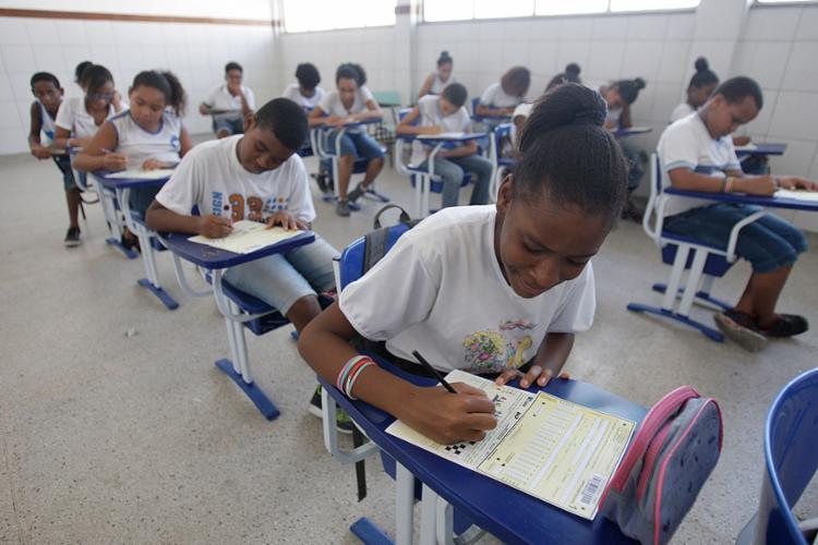 Disputa contou com a participação de alunos do 6º (EF) ao 3º ano (EM) - Foto: Raul Spinassé l Ag. A TARDE
