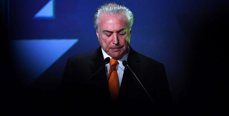 Planalto diz que o presidente Michel Temer é alvo de inverdades - Foto: Nelson Almeida | AFP