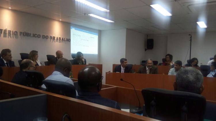 Reunião aconteceu na sede do Ministério Público do Trabalho - Foto: Divulgação