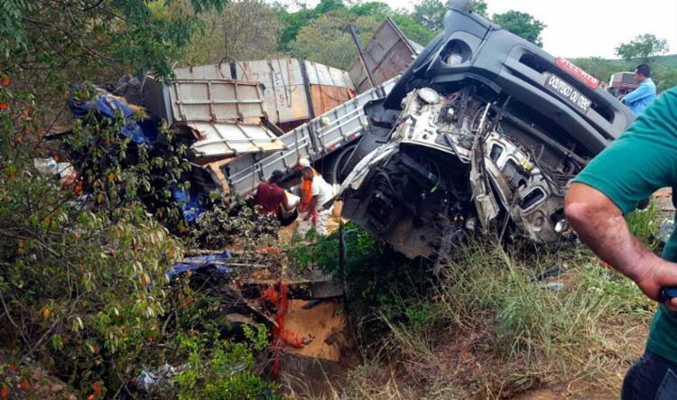 Acidente aconteceu na madrugada desta quinta, 8, na Chapada - Foto: Guilherme Maciel | Reprodução | Blog do Braga