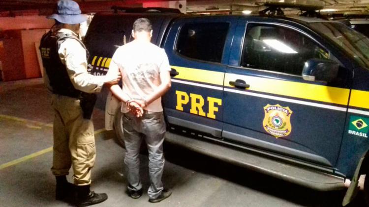 O comerciante foi levado para o Ministério Público, em Nazaré - Foto: Divulgação | PRF