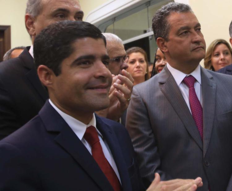ACM Neto, prefeito de Salvador, e Rui Costa, governador da Bahia - Foto: Adilton Venegeroles | Ag. A TARDE | 23.03.2017