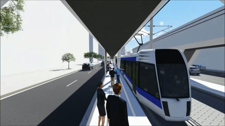 O modal, que será integrado ao metrô e ao BRT, terá 21 estações ao longo de um traçado de 18,5 quilômetros - Foto: Secom Gov-BA | Divulgação