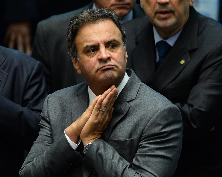Aécio também está afastado da presidência do partido - Foto: Andressa Anholete l AFP