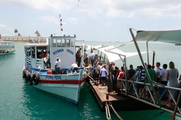 Travessia está com seis embarcações saindo a cada meia hora - Foto: Luciano da Matta | Ag. A TARDE