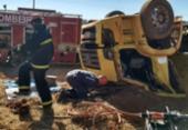 Caçamba tomba e motorista morre nas ferragens na Bahia | Foto: