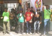 Mototaxistas protestam e fazem buzinaço contra o aumento do combustível | Foto: