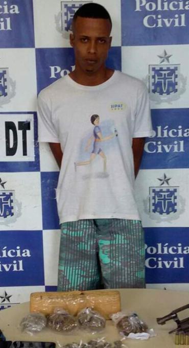Yuri já tem passagem pela polícia por assalto, porte ilegal de arma de fogo e tráfico de drogas - Foto: Divulgação   Polícia Civil