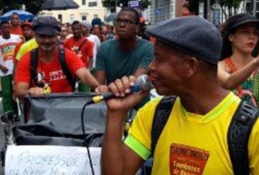 Protesto de professores municipais afeta trânsito no centro
