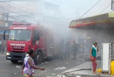 Loja de tecidos pega fogo no bairro de Cajazeiras 8