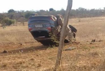 Empresário é achado morto após ser baleado e capotar carro em Ibititá