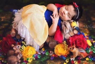 Fotógrafa retrata seis bebês como princesas da Disney; veja