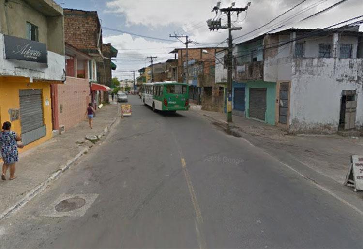 O crime aconteceu no Mercado Araújo, que fica na rua Direta de Santo Inácio - Foto: Reprodução   Google Maps
