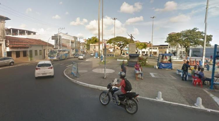 Caso ocorreu, por volta das 23h50, no Largo da Soledade, na Liberdade - Foto: Reprodução | Google Maps
