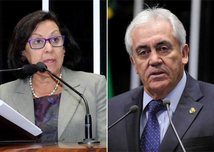 Lídice da Mata e Otto Alencar votaram contra a reforma - Foto: Waldemir Barreto e Marcos Oliveira   Ag. Senado