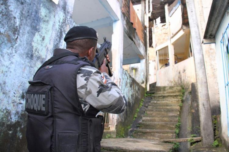 Polícia mantém ocupação na região de Cajazeiras - Foto: Jorge Cordeiro   Divulgação   Polícia Civil