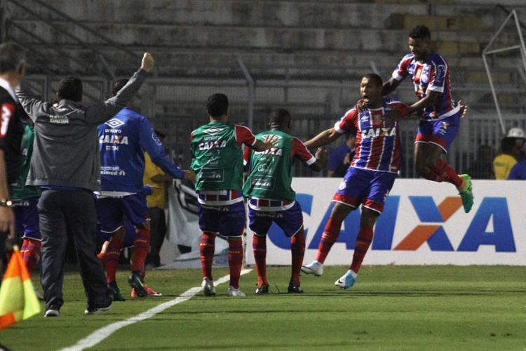 Atacante Rodrigão foi o destaque da partida e marcou dois gols - Foto: Luciano Claudino l Estadão Conteúdo
