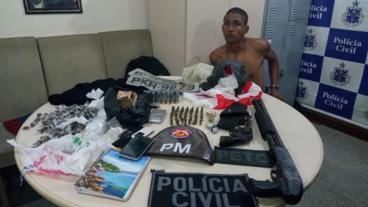 Gildásio Silva dos Santos, 23 anos, é apontado como líder do tráfico em Alto de Coutos - Foto: Divulgação   SSP-BA