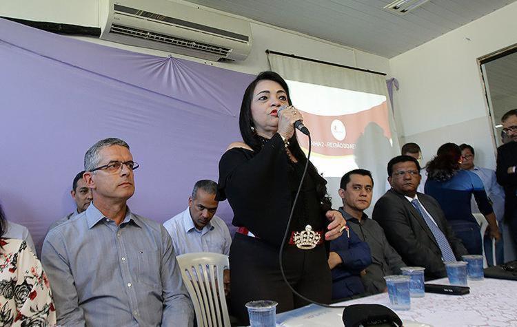 Prefeita Moema Gramacho participou da apresentação - Foto: Adilton Venegeroles l Ag. A TARDE