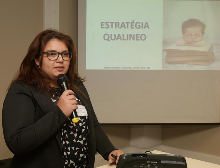 Consultora do Ministério da Saúde, Liliane Augusto lançou a estratégia Qualineo na maternidade Professor José Maria de Magalhães Neto - Foto: Xando Pereira l Ag. A TARDE