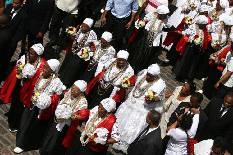Reconhecida como Patrimônio Imaterial da Bahia desde 2010, festa conta com ritos religiosos e profanos - Foto: Raul Spinassé | Ag. A TARDE | 15.08.2011