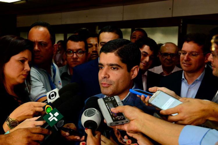 O prefeito ACM Neto anunciava mais um eixo do Programa Salvador 360 - Foto: Valter Pontes | Secom | Divulgação