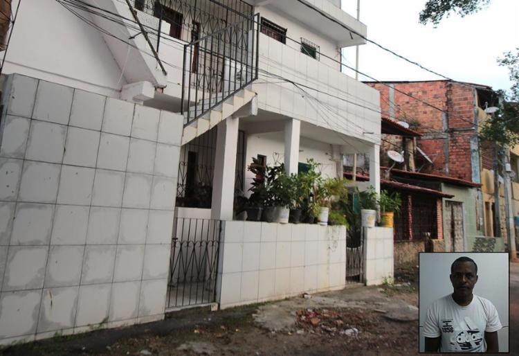 Cássia foi atacada no sobrado onde morava. Antônio (detalhe) queria reatar a relação - Foto: Divulgação l Polícia Civil