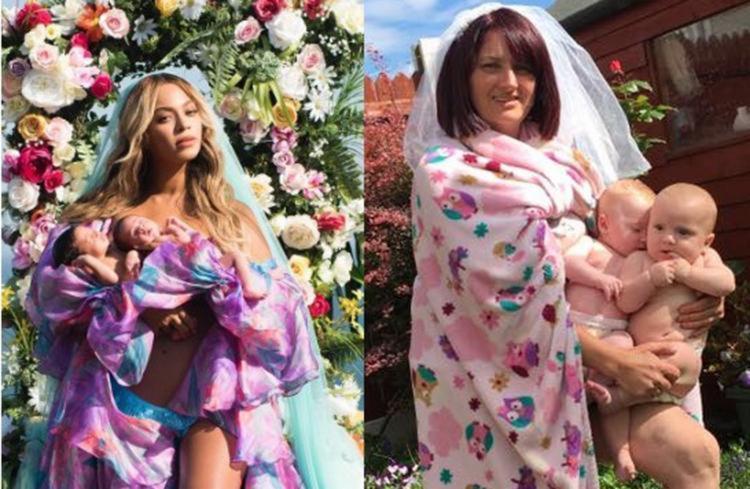 """""""Imagino quantas fotos Beyoncé teve que tirar para conseguir a certa"""", escreveu Sharon - Foto: Reprodução"""