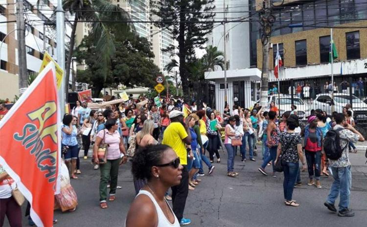 Ato faz parte da campanha salarial dos professores municipais - Foto: Divulgação | APLB