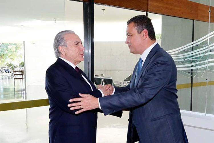O presidente Michel Temer ligou para o governador Rui Costa - Foto: Anderson Riedel | Planalto