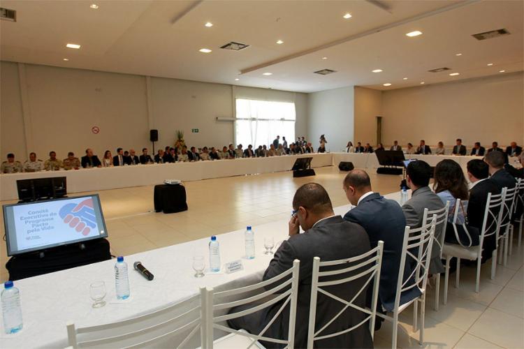 Reunião do programa Pacto pela Vida foi realizada com uma ampla participação - Foto: Alberto Coutinho Gov-BA