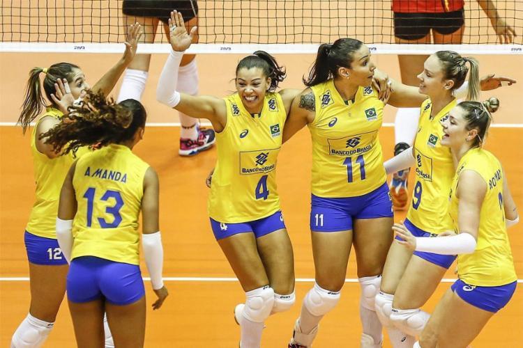 Após eliminação precoce na Olimpíada, meninas do vôlei vencem Grand Prix - Foto: Divulgação l CBV