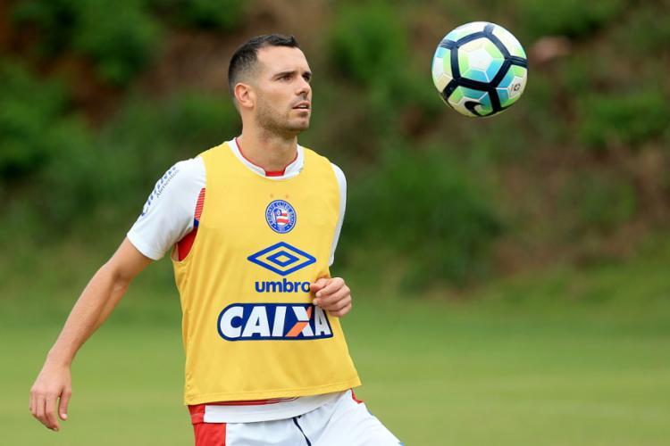 Lucas Fonseca está a disposição para a partida contra o Palmeiras - Foto: Felipe Oliveira | EC Bahia