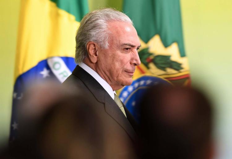 O PGR afirma que Temer praticou o crime de corrupção passiva - Foto: Evaristo Sá | AFP