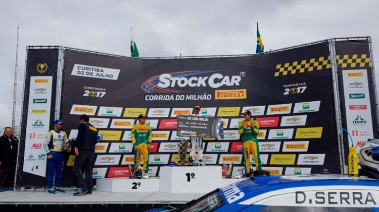 Serra só perdeu a liderança por alguns segundos, após parada nos boxes - Foto: Reprodução | Twitter