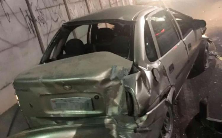 Acidente aconteceu logo após condutor ultrapassar barreira - Foto: Divulgação | Transalvador