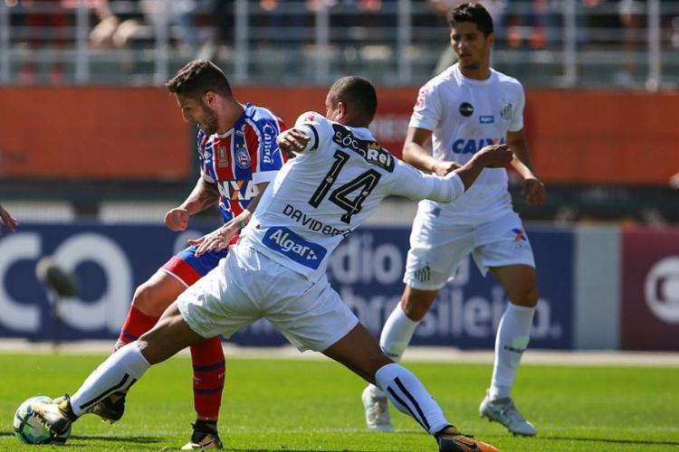 Bahia encontrou dificuldade diante do time paulista - Foto: Jales Valquer | Fotoarena | Estadão Conteúdo