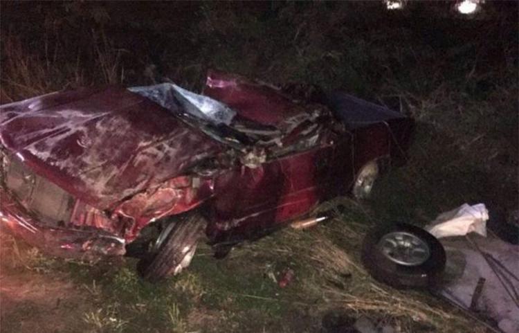 Veículo ficou completamente destruído no acidente - Foto: Reprodução | Blog do Anderson