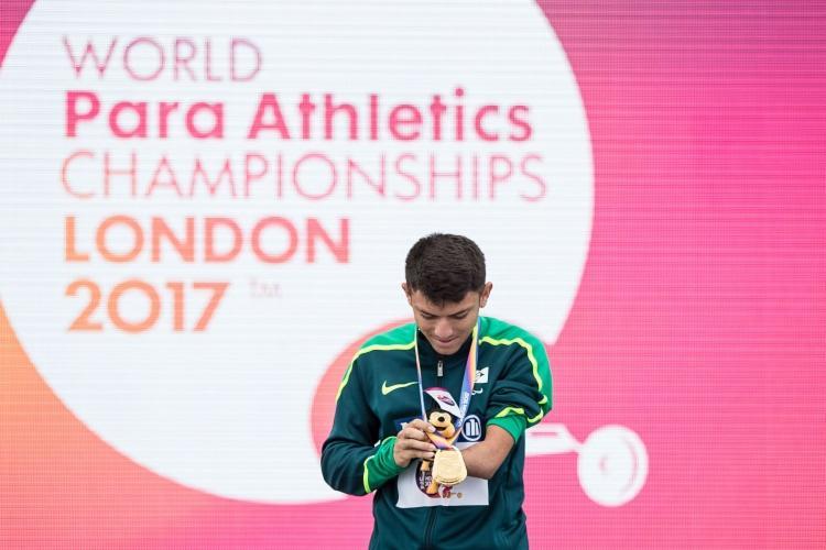 Petrucio Ferreira bateu dois recordes no Mundial de Londres - Foto: Daniel Zappe/CPB / Divulgação
