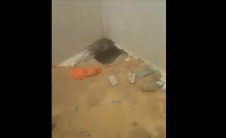 Buraco foi descoberto após apreensão de vídeo feito por presos - Foto: Reprodução