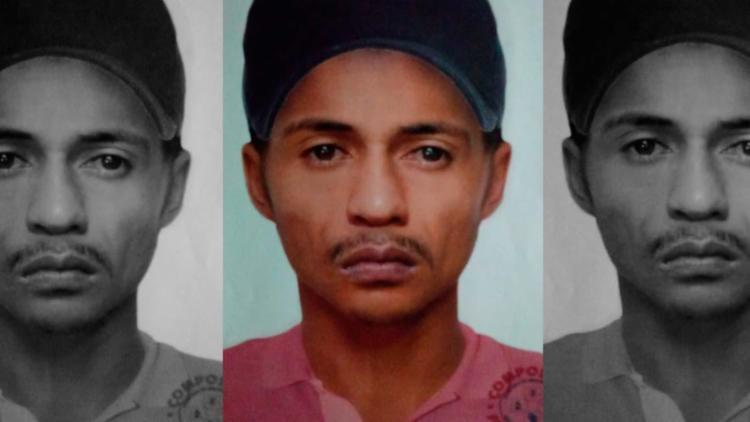 Retrato falado mostra um dos suspeitos de participar de assalto - Foto: Divulgação | Polícia Civil