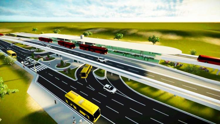 Veículos serão ônibus articulados, com capacidade para 170 passageiros e comprimento de até 23m - Foto: Divulgação