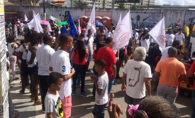 Manifestação aconteceu durante desfile cívico - Foto: Divulgação